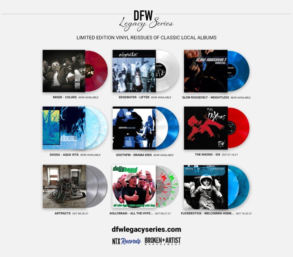 DFW Legacy Series Catalog of Vinyl Records